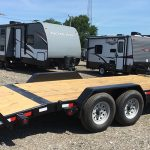 18 ft Equipment Hauler (payload #11,000) Spare Tire, 7 K Drop Leg (2017) - Special Order