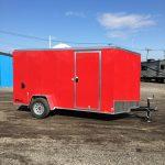 6x12 Cargo Express Red (2018) Double Doors/ Side Door/Pair of Jacks/Upgrade Color - On Order