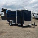 6x12 (2019) Cargo Express Indigo Blue Ramp Door / Side Door / Spare Tire with Mount / Jacks (Screwless) $3,275