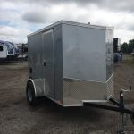 5x8 (2019) Silver Journey V-Nose with Ramp door $2,450