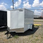 6x10 White Cargo Express Double Door/ Jacks/ Spare Tire and Mount $2,725