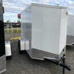 5x8 (2019) White Cargo Express Ramp Door/Jacks/Spare Tire and Mount $2,375