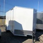 7 x 14 White Cargo Express (2019) V Nose w/Side Door/Ramp Door/Ramp Extension/ Spare Tire Mount/Spare Tire $4,195