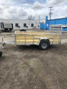 6 x 10 Aluminum trailer (2020) with Spare Tire/ 4 recessed D Rings