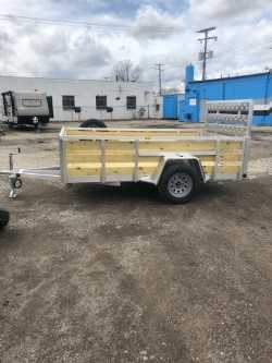 6 x 10 Aluminum trailer (2020) with Spare Tire/ 4 recessed D Rings $2,325