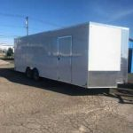 8.5 x 20 White Cargo express 4 D rings/Ramp Extention/Ramp Door/ Extended Tongue $ 6,175