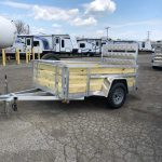 5 x 8 High Side Aluminum Utility with Spare Tire - Can be ordered