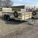 80 x 14 High Side Aluminum Utility Tandem Axle with Spare Tire $3,375