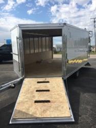 85 x 12 Cargo Express White Snow mobile/ATV Trailer 2019. Spare Tire/Rear Ramp Door/Front Ramp Door/ 6'6″ Tall inside/32″ Side Door. $4,895